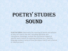 Poetry Studies - Harrison High School
