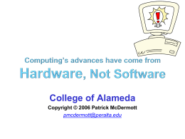 Software Advances Slowly