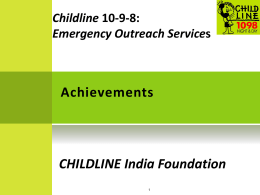 Childline India Foundation 2014