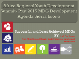 Regional Youth Development Summit