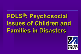 PDLS: Psychosocial Issues of Children and Families in