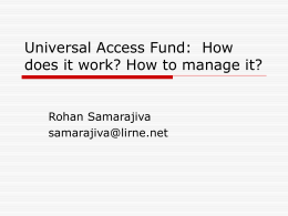 Universal Access Fund: How does it work? How to …