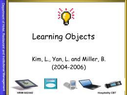 What is Learning Objects?