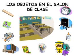 LOS OBJETOS EN EL SALON DE CLASE