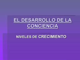 EL DESARROLLO DE LA CONCIENCIA