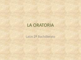 LA ORATORIA - latinlatinlatin