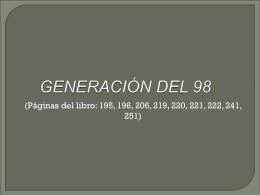 NOVELA Y ENSAYO DEL 98
