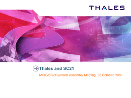Focus on Supplier - Thales