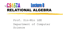 RELATIONAL ALGEBRA - SJSU Computer Science …