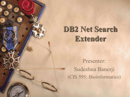 DB2 Net Search Extenders