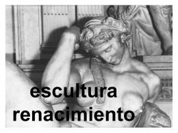 renacimiento escultura - Escuela de Arte y Superior de
