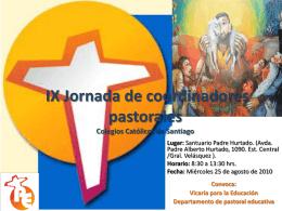 Jornada de coordinadores pastorales