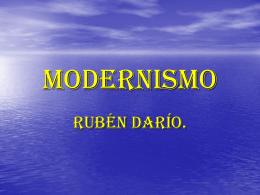 Modernismo - LenguaLiteraturaLarraona