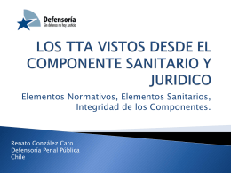 LOS TTA VISTOS DESDE EL COMPONENTE SANITARIO Y …