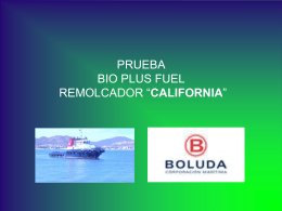 "Prueba SMART CATALYZER remolcador ""CALIFORNIA"""