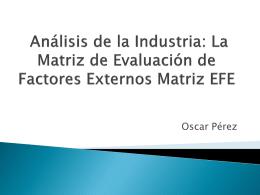Matriz EFE y EFI - gestionnegocio2012