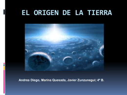 EL ORIGEN DE LA TIERRA