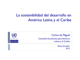 Latin America and the Caribbean: regional preparatory
