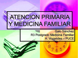 ATENCION PRIMARIA Y MEDICINA FAMILIAR