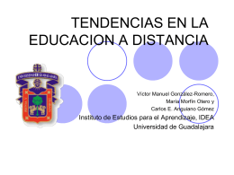 TENDENCIAS EN LA EDUCACION A DISTANCIA