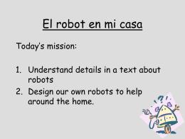 El robot en mi casa