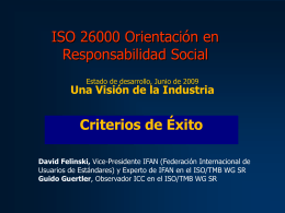 The Zen of Standards - ISO 26000, an estimation