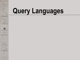 Query Languages - Villanova University
