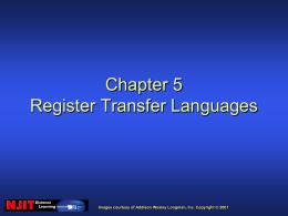 Chapter 5 Register Transfer Languages