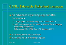 Structured-Document Processing Languages