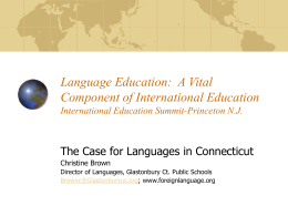 Language Education: A Vital Component of International