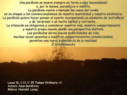25 Tiempo Ordinario -C-