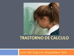 TRASTORNO de calculo