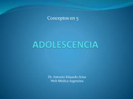 ADOLESCENCIA - WEB MEDICA ARGENTINA