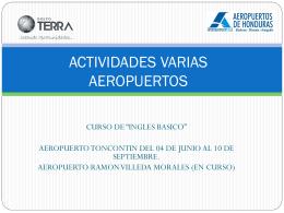 ACTIVIDADES VARIAS AEROPUERTOS