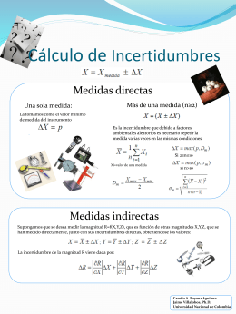 Calculo de Incertidumbres