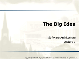01 The_Big_Idea - Software Architecture: Foundations