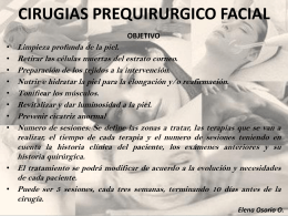 CIRUGIAS PREQUIRURGICO FACIALES