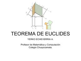 TEOREMA DE EUCLIDES - pesolis