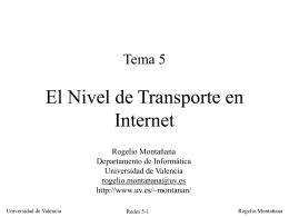 El Nivel de Transporte en Internet