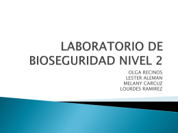 LABORATORIO DE BIOSEGURIDAD NIVEL 2