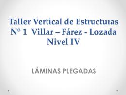 Taller Vertical de Estructura I