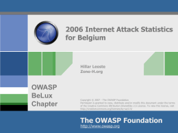 Web server attacks in Belgium – statistics from year 2005