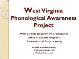Phonological Awareness: What do I need to know?