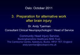 Brain Injury & Vocational Assessment
