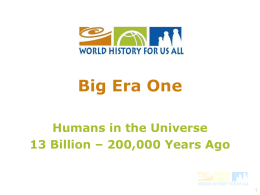 WHFUA Big Era One PowerPoint Overview Presentation