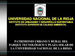 UNIVERSIDAD NACIONAL DE LA RIOJA INSTITUTO DE …