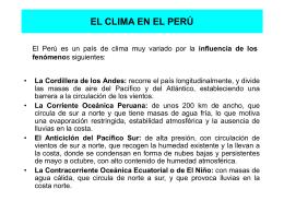EL CLIMA EN EL PER&#218