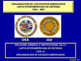 Presentacion OEA 20 Marzo 2007