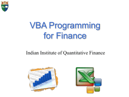 Introduction to Financial Statistics