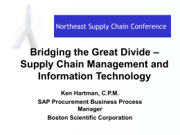 2005 Northeast Supply Chain Conference